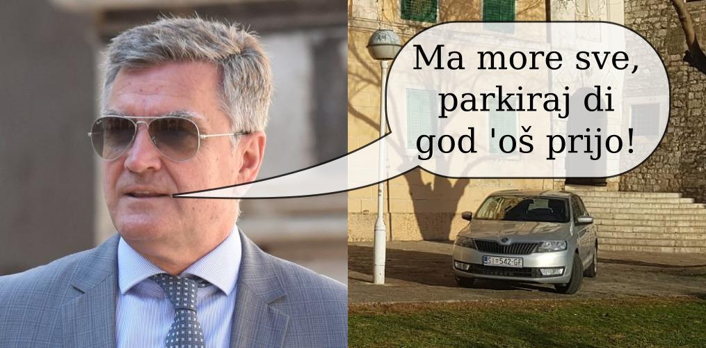 Ima li biskup dozvolu parkirati na 3m ispred svoje palače nasred pješačke zone? Što je u baraci pokraj katedrale? Gradonačelnik odgovara!