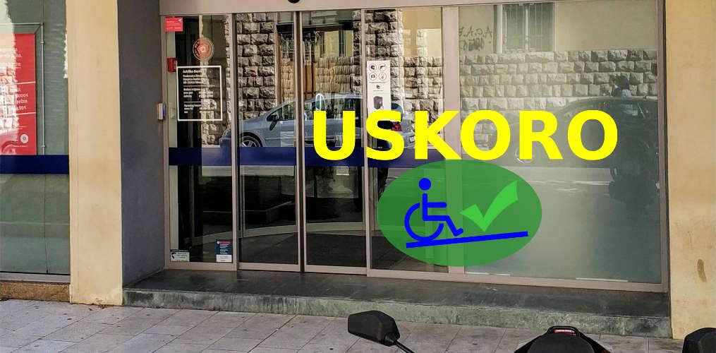 Addiko banka će postaviti rampu na ulaz i time omogućiti ulaz osobama s invaliditetom