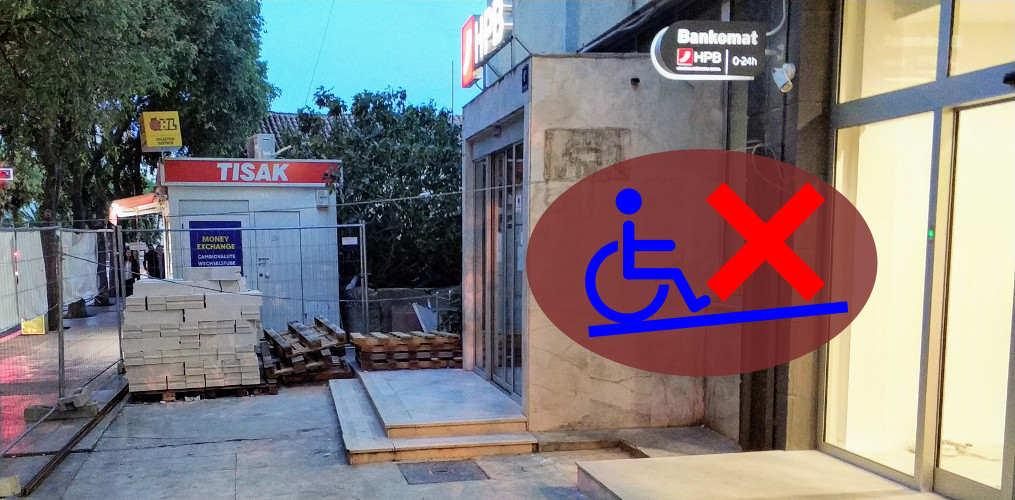 Stigao odgovor HPB-a u vezi prilaza za osobe s invaliditetom za poslovnicu na pijaci