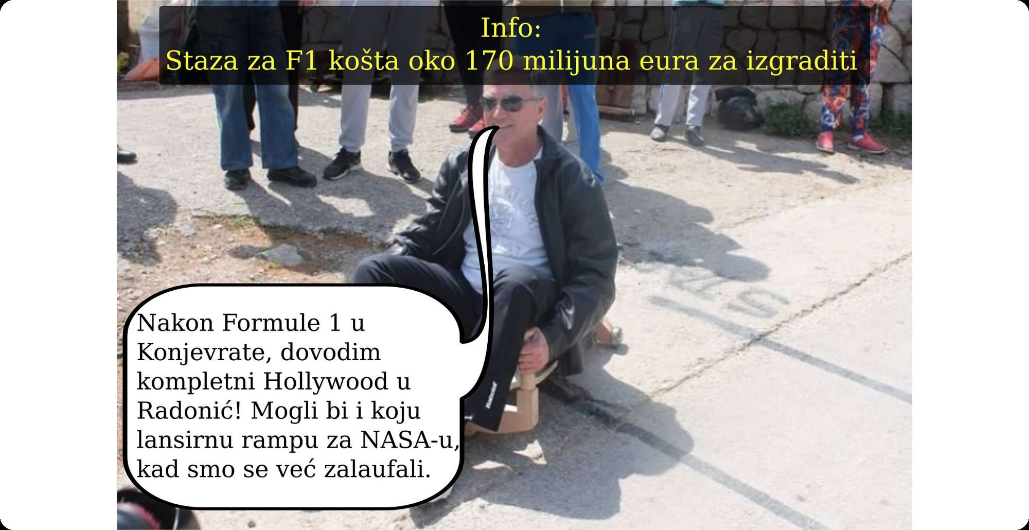 Gradonačelnik Burić dovodi Formulu 1 u Konjevrate