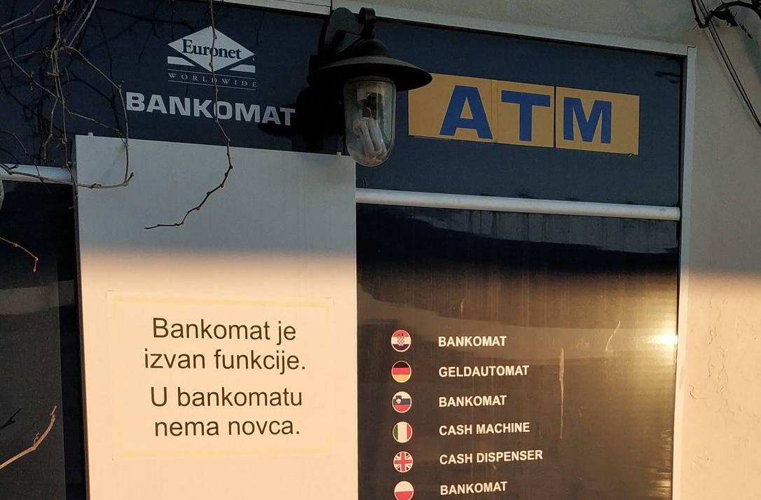 Euronet bankomati niti ne rade zimi