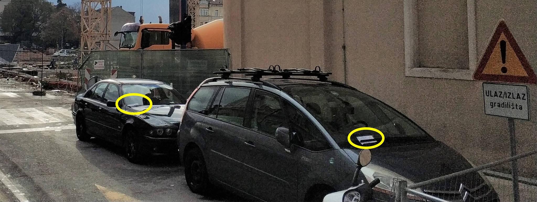 Komunalci se sjetili provoditi propise ispred vlastite butige?