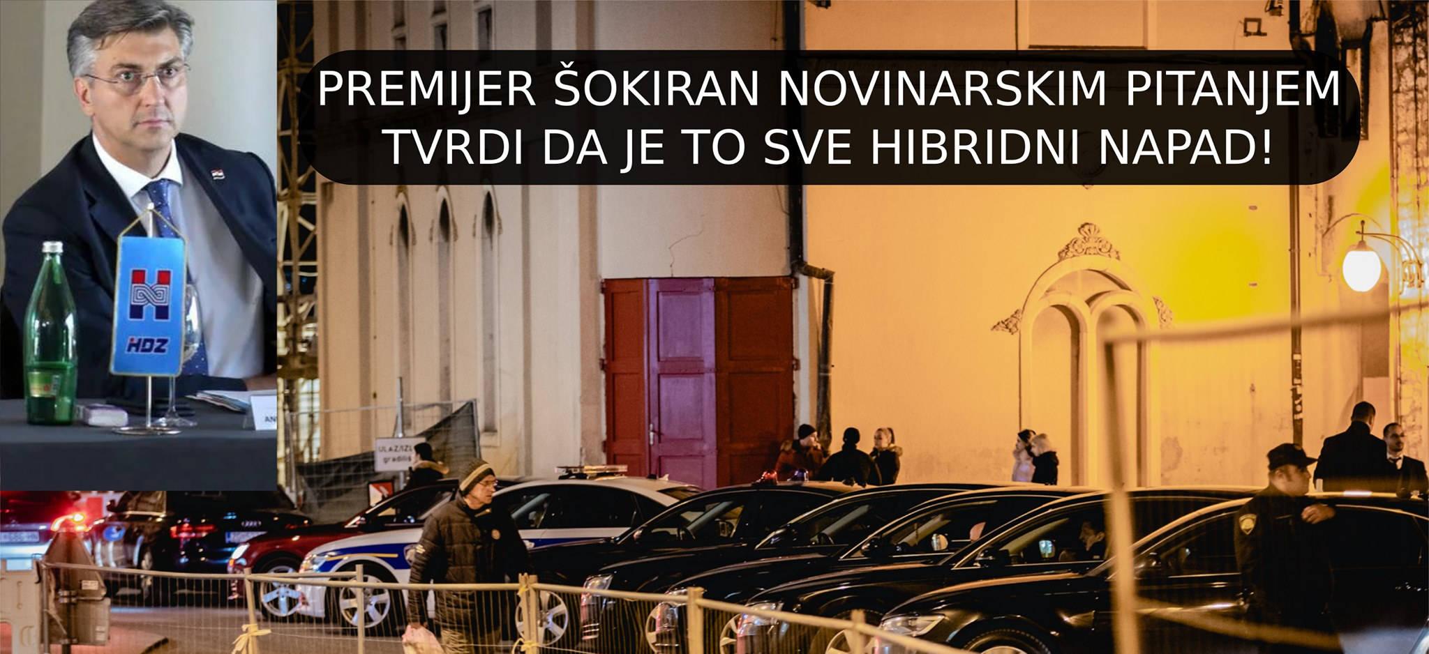 HDZ unutarstranački dernek i parking kod šibenskog kazališta